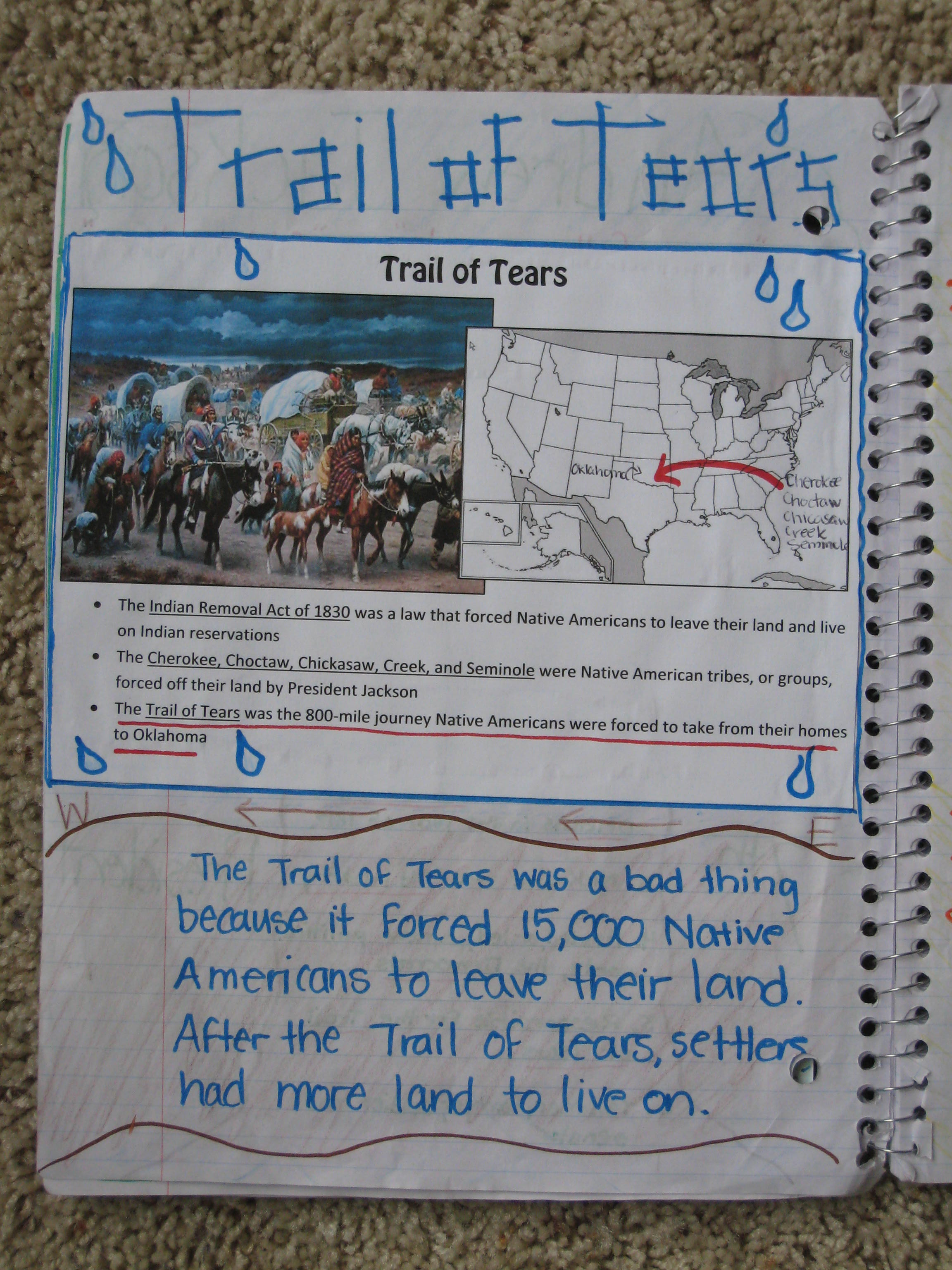 worksheet Trail Of Tears Worksheet ohmohamed licensed for non commercial use only 5th grade trail of tears doc
